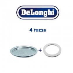 Guarnizione e filtro doccetta alicia De Longhi 4 tazze