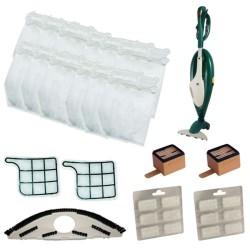 Kit Vk 135/136 sacchetti con sottospazzola, griglie, filtri e profumini