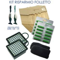 Kit Vk 130/131 sacchetti + profumini + 4 filtri