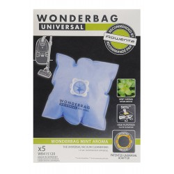 WB415120 Rowenta Wonderbag Sacchetti Universali + 1 Adattatore Riutilizzabile